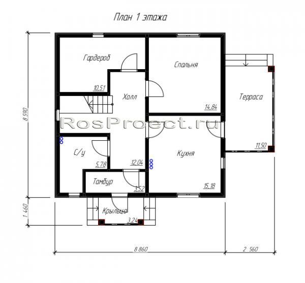 Схема разводки одноэтажного дома фото 436