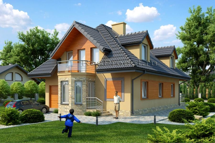 Фотки экономичный мансардных домов