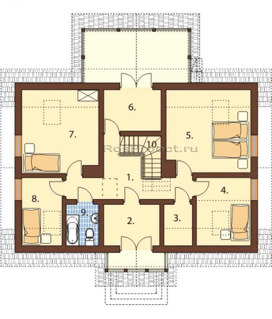 план схема дома 8 на 8